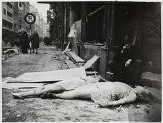 German raped women's bodies on the street, 1945, Berlin