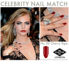 Celebrity Nail Match: #BioSculptureGel No.20 Bio Sculpture Nails, Celebrity Nails, Polished Look, Celebs, Celebrities, Nail Colors, Nail Art, Nail Arts, Celebrity