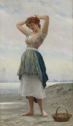 "Eugene de Blaas ""Autorretrato / Self-portrait "", óleo sobre lienzo / oil on canvas ,45 × 56 cm., 1898 Eugene de Blaas, tambié..."
