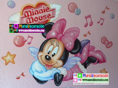 #muralesinfantiles, #decoracionmural, #decoracionbebe, #muralesmadrid,#decoracion,#dormitoriosinfantiles, Murales Infantiles Minnie Mouse www.muraldecoracion.com