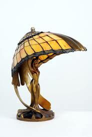 Simple lamps like an acorn are much less valuable than complex forms like dragonfly's or wisteria.