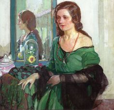 The Athenaeum - Lady in Green (Richard Edward Miller - circa No dates listed)
