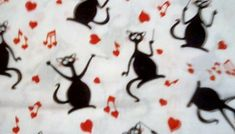 Musical car fabric conductor cat fabric black cat s 1. 5 yds Musical Car, Car Fabric, Vintage Theme, Fabric Squares, Conductors, Vintage Fabrics, Musicals, Quilts, Cats