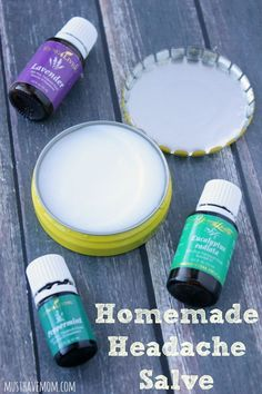 Easy Homemade Headache Salve. This recipe uses potent ingredients such as virgin coconut oil, Eucalyptus essential oil, Lavender essential oil and Peppermint essential oil to get relief from headache naturally.