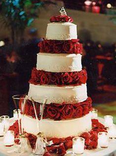 wedding cake red
