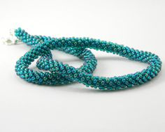 Teal Kumihimo Necklace by MaryMorrisJewelry on Etsy, $50.00