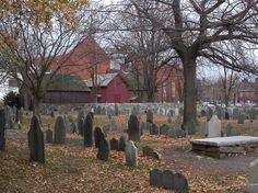The Old Burying Point in what is perhaps America's most haunted town, Salem, MA...I know it looks creepy but, strolling the old town, visiting the Witch House, seeing the old (and I mean really old) grave yards.  Great relaxing a fun time!