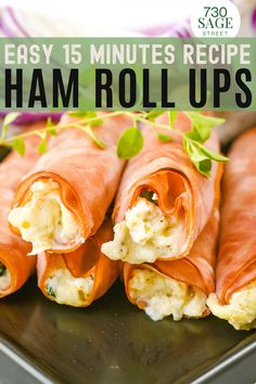 These low carb ham roll ups are a gluten free, keto friendly appetizer recipe you can whip up in less than 20 minutes. Super easy, delicious & versatile. #onthetable #easyrecipes #lowcarbrecipes #hamrollupsrecipes #easyappetizer #healthyfood Best Low Carb Recipes, Low Carb Chicken Recipes, Pork Recipes, Keto Recipes, Favorite Recipes, Healthy Recipes, Warm Appetizers, Low Carb Appetizers, Appetizer Recipes