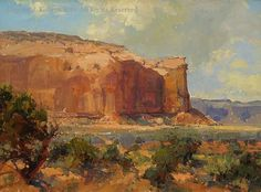 Morning in the Valley (Monument Valley) - Oil by Kathryn Stats