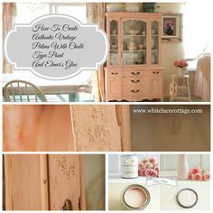 How To Create Chippy Patina On Furniture - White Lace Cottage