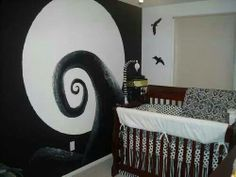 Tim burton inspired Baby room
