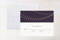 Midnight Vineyard RSVP Cards by Design Lotus at minted.com