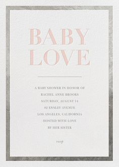 Great For Baby, With Love By Sugar Paper For Paperless Post. Design Custom Baby  Shower