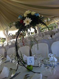 Centros de mesa y meseros Boda Cristóbal y Alicia #alicante Octubre 2013 #centerpieces #meseros #seating #bodas #bodasconlove #weddings #weddingplanner #eventsplanner #flowers