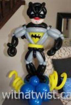 Balloon art batman.  #Balloon sculpture batman #balloon-sculpture-batman…