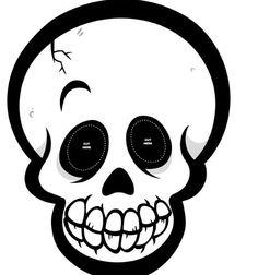 Recortables de dibujos de Halloween| Máscara de calavera