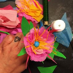 My stuff// paper flower - DIY - skidtogkanel - kirstine Kirk - paper art - paper lover