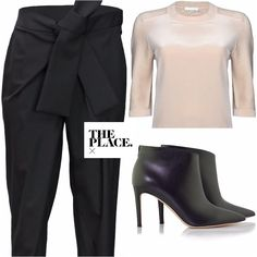 Lovely Chloe bow pants and blouse and... the amazing and new Gianvito Rossi ankle boots. http://theplacex.com/the-designers/gianvito-rossi/ankle-boots.html