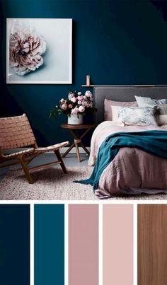 Living Room Color Schemes That Express Yourself – Livingroom WOW – Living Room Ideas Dark Blue Bedroom Walls, Blue Walls, Bedroom Neutral, Gray Bedroom, Bedroom Bed, Bedroom Apartment, Bed Room, Apartment Living, Home Decor Bedroom