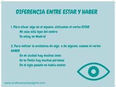 """Diferencia entre """"haber"""" y """"estar"""". Nivel A2."""