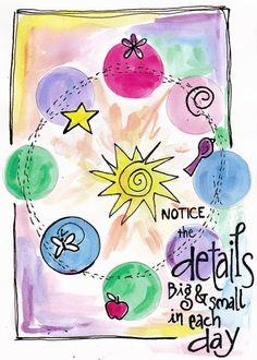 .cuenta con los detalles grandes y pequeños de cada día