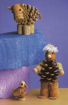 Pour que votre maison soit la plus belle pour Noël, réalisez votre décoration en bouchons de liège.