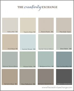 Colors for house! Collection of the most popular/pinned paint colors on Pinterest {Paint It Monday} The Creativity Exchange