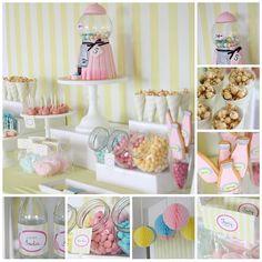Soda and Bubblegum Party- bubble gum machine cake- yes, please! #birthday #kids #babyshower