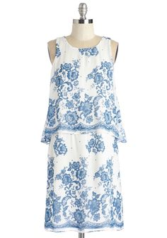 Enchanting Indeed Dress. Flutter by in this white floral dress and leave a trail of loveliness in your wake.  #modcloth