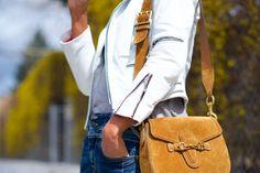 Gucci suede lady web bag
