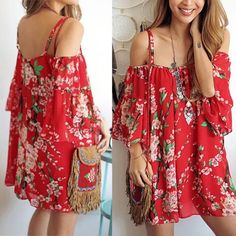 ❤️Red Sheer Print Top/Tunic NWOT. Super cute to add to your closet. Red sheer top/tunic style. Shoulderless/ spaghetti straps. Size:med/large. Bust area runs smaller. Tops Tunics