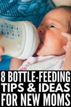 3 Bottle Feeding Tips for Newborns | If you chose not to nurse your baby (or breastfeeding just didn't go as planned), this collection of bottle feeding hacks for newborns is for you! From choosing the right bottle, to learning how to read your baby's hunger cues, to using the right feeding position to avoid gas, these ideas are perfect for new moms and moms who are transitioning from breast to bottle. #bottlefeeding #formulafeeding ##newborntips #newbornhacks Bottle Feeding Newborn, Bottle Feeding Breastmilk, Baby Feeding, Baby Position, Newborn Baby Care, Baby Care Tips, Breastfeeding And Pumping, Baby Bottles, Mom And Baby