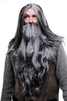 Déguisement barbe et barbe fausse face coiffure fête habiller jusqu/'à Hallow GN