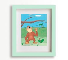 Cute Monkey by Seriforama on Etsy