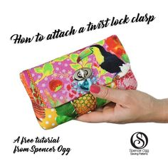 New free tutorial on the #spencerogg Sew with SO blog today on attaching twist lock clasps. An easy way to make your bags look sooo professional. #sewingblogger #sewingtutorial #sewing#sewingblog #sewsewsew