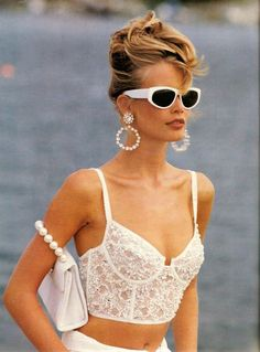 'White Washed' from………………Vogue January 1992 feat Claudia Schiffer