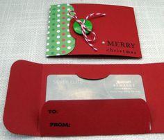Handmade Christmas Gift Card Holders Set of 3 by foryoumarilyn, $7.00