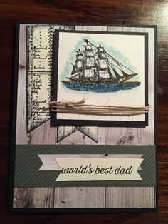 RachTheStamper.wordpress.com    Stampin Up; Last Call All Aboard The Open Sea stamp set