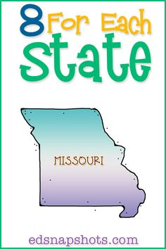 Eight for Each State Missouri Us Geography Study with picture book recommendations and free printable.