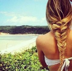 Braids make for a perfect low-maintenance beach hair style! Braid while wet and undo after hair dries for pretty waves.