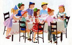 """Billy's Friends"" schoolbook (1957) illustrated by Dagmar Wilson & George Okamoto"