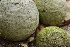 DIY Hypertufa Orbs - making these for the garden! Hypertufa is also made with portland cement (QuickCrete) but uses lightweight materials in place of the sand and rock. Typically peat moss and perlite are used,