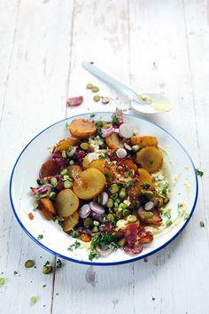 [On déguste] Le dimanche midi j'ai juste envie de saucisson et... salade de pommes de terre au saucisson! - Dorian cuisine @DorianNieto