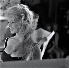 """Brigitte Bardot on the set of """"Come dance with me !"""", 1959"""