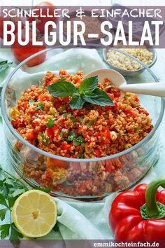 Fast and easy bulgur salad- Quick and easy bulgur salad – www.emmikochtinf …… Fast and easy bulgur salad- Quick and easy bulgur salad – www.