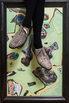 Exoctic textures with unexpected colours in the shoes of Imelda'Secret