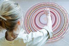 Les planchers de bois de couleur marbrés de Penille Snedker Hansen  2Tout2Rien