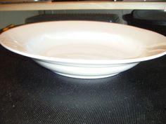 """10 Strawberry Street Monno Bangladesh White Rim Rimmed Soup Pasta Bowls 9"""" NEW #MonnoBangledesh"""
