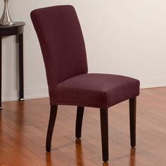 75 Diamond Stretch Velvet Dining Chair Cover – Set of 4