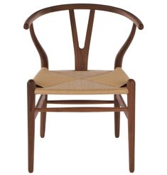 Hans Wegner Wishbone Chair in Walnut/Natural - I want these dining chairs !!!!